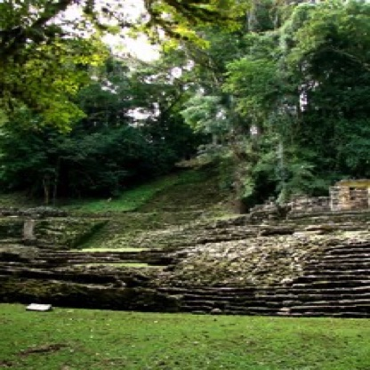 The river-side city of Yaxchilan.